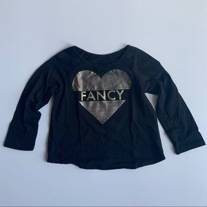 The Children's Place Shirts & Tops - Children's Place Girls Black Shirts with Sequins